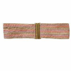 J. Crew Striped Jute Wide Elastic Waist Belt